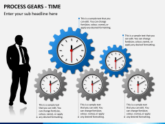 Process gears PPT slide 1