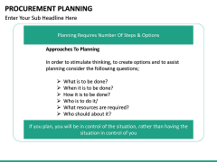 Procurement Planning PPT slide 27