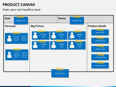 Product canvas PPT slide 1