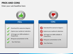 Pros and cons PPT slide 13