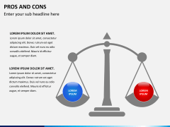 Pros and cons PPT slide 1