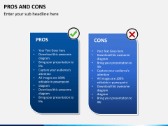Pros and cons PPT slide 9
