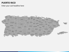 Puerto rico map PPT slide 1