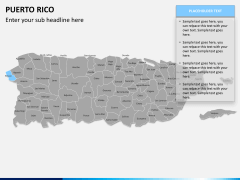 Puerto rico map PPT slide 10