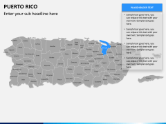 Puerto rico map PPT slide 11