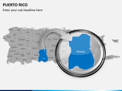 Puerto rico map PPT slide 13