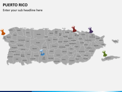 Puerto rico map PPT slide 2