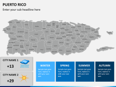 Puerto rico map PPT slide 22