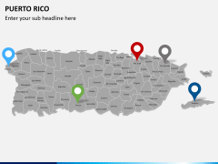 Puerto rico map PPT slide 4