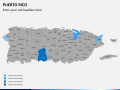Puerto rico map PPT slide 5