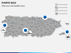 Puerto rico map PPT slide 7