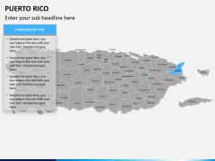 Puerto rico map PPT slide 8