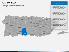 Puerto rico map PPT slide 9