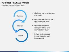 Purpose Process Payoff PPT slide 3