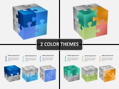 Puzzle cube PPT cover slide
