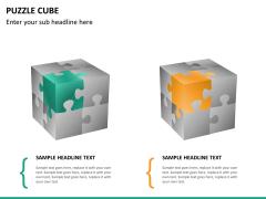 Puzzle cube PPT slide 13