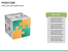 Puzzle cube PPT slide 22