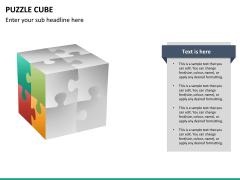 Puzzle cube PPT slide 23