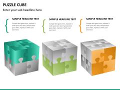 Puzzle cube PPT slide 24
