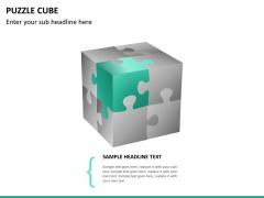 Puzzle cube PPT slide 14