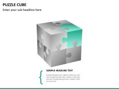 Puzzle cube PPT slide 15