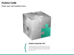Puzzle cube PPT slide 16