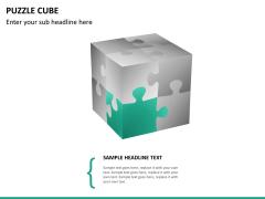 Puzzle cube PPT slide 17