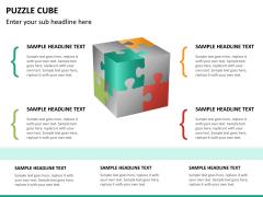Puzzle cube PPT slide 19