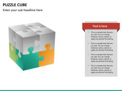 Puzzle cube PPT slide 21