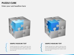 Puzzle cube PPT slide 1