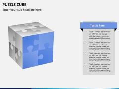 Puzzle cube PPT slide 10