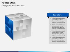Puzzle cube PPT slide 11