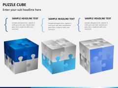 Puzzle cube PPT slide 12