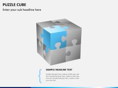 Puzzle cube PPT slide 2