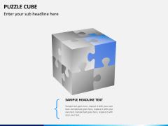 Puzzle cube PPT slide 3