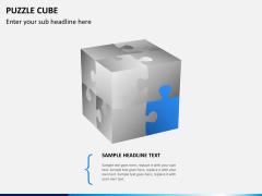 Puzzle cube PPT slide 4