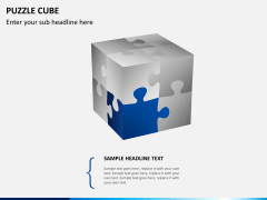 Puzzle cube PPT slide 5
