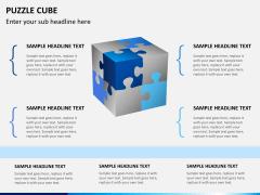 Puzzle cube PPT slide 7