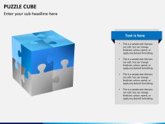 Puzzle cube PPT slide 8