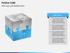 Puzzle cube PPT slide 9