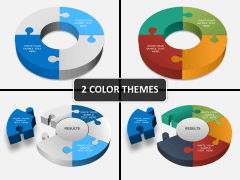 Puzzle pie chart 3d PPT cover slide