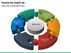 Puzzle pie chart 3d PPT slide 18
