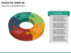 Puzzle pie chart 3d PPT slide 27