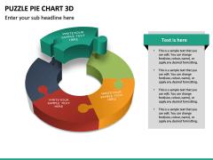 Puzzle pie chart 3d PPT slide 28