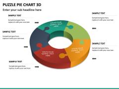 Puzzle pie chart 3d PPT slide 29