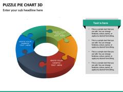 Puzzle pie chart 3d PPT slide 30