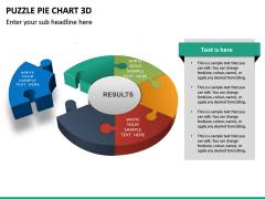 Puzzle pie chart 3d PPT slide 31