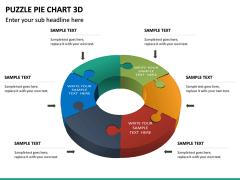 Puzzle pie chart 3d PPT slide 32