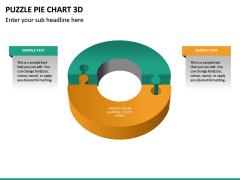 Puzzle pie chart 3d PPT slide 33