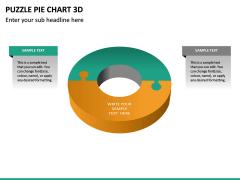 Puzzle pie chart 3d PPT slide 34